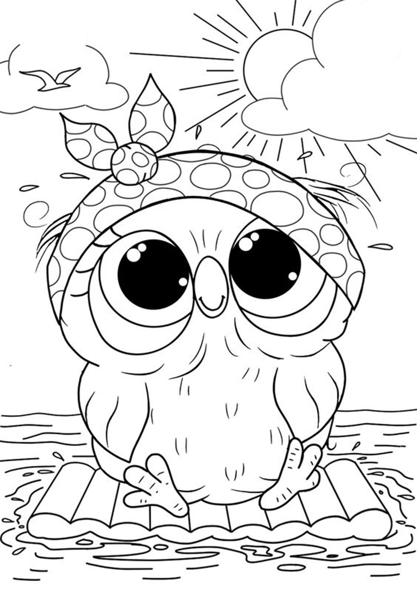 Free Amp Easy To Print Owl Coloring Pages