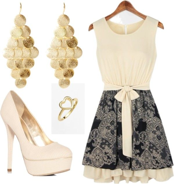 """Gold"" by daddys-rose on Polyvore"