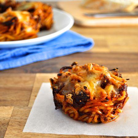 Muffin Tin Spaghetti Nests Using Leftover Pasta Recipe Leftover Pasta Recipetin Eats Recipes