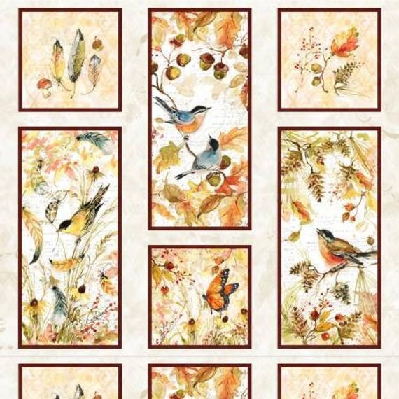 Forest Dance 3023-39610-152 Panel by Susan Winget for Wilmington Prints #birdfabric