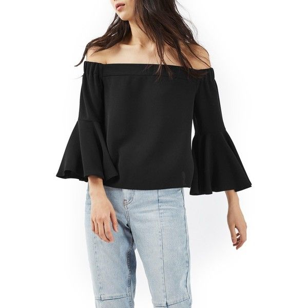 2c602ad3eb24a Women s Topshop Ella Off The Shoulder Top ( 65) ❤ liked on Polyvore  featuring tops