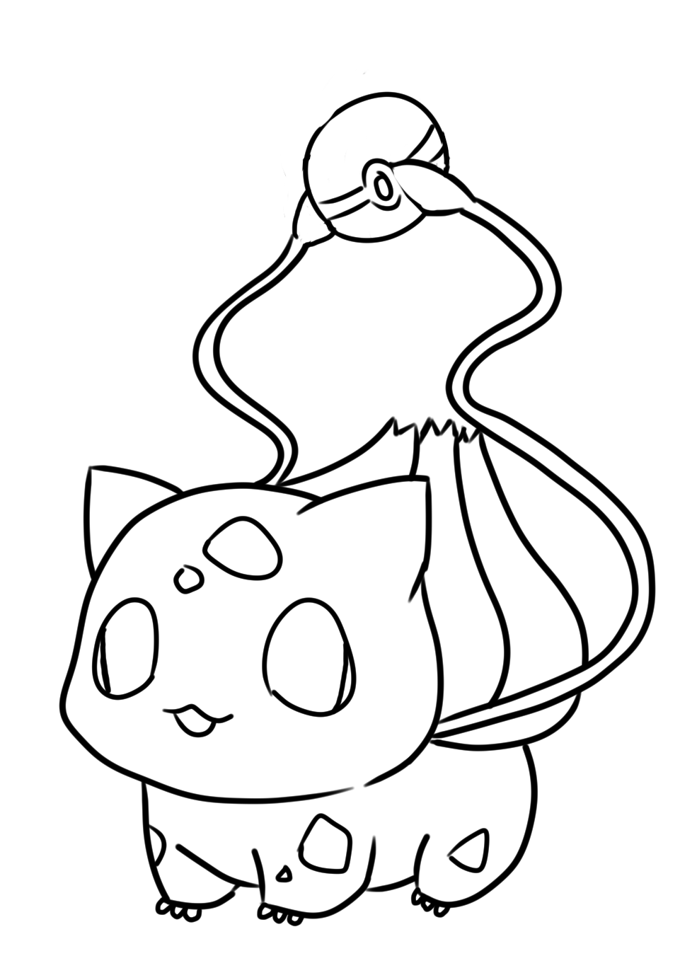 Kawaii Pokemon Bulbasaur Coloring Pages In 2020 Pokemon Coloring Pokemon Bulbasaur Coloring Pages