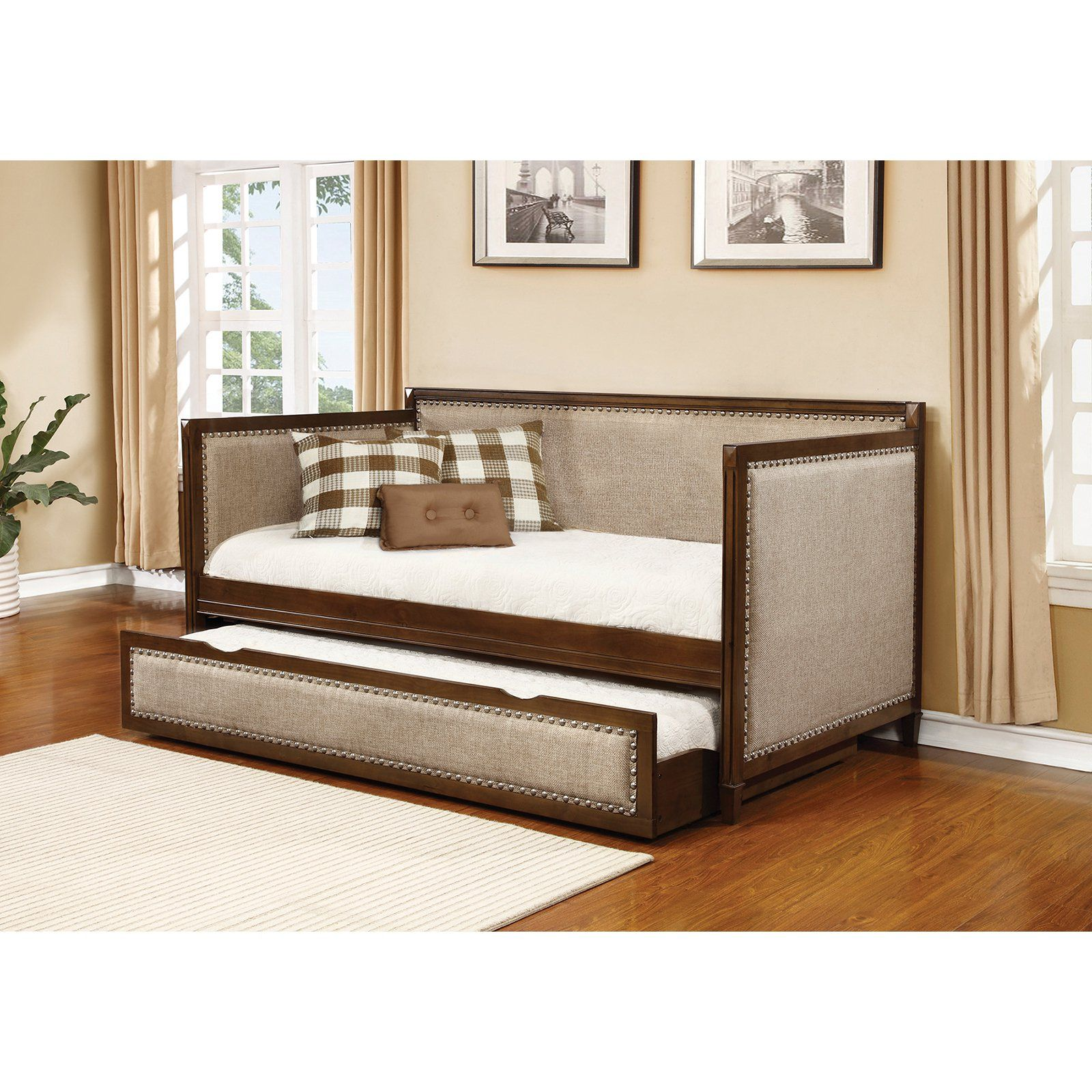 Coaster Furniture Carriere Upholstered Daybed With Trundle - From Hayneedlecom