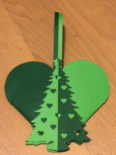Hjerte med juletræ