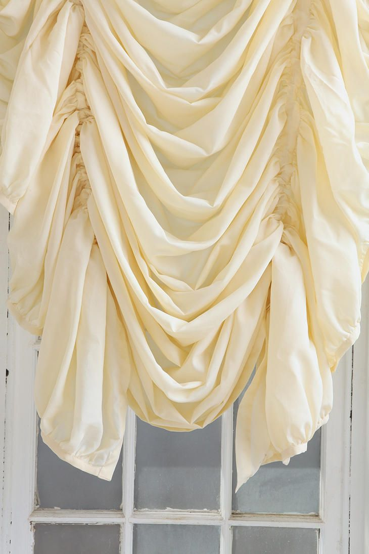 Ho how to tie balloon curtains - Drawstring Ruched Balloon Shade Urbanoutfitters