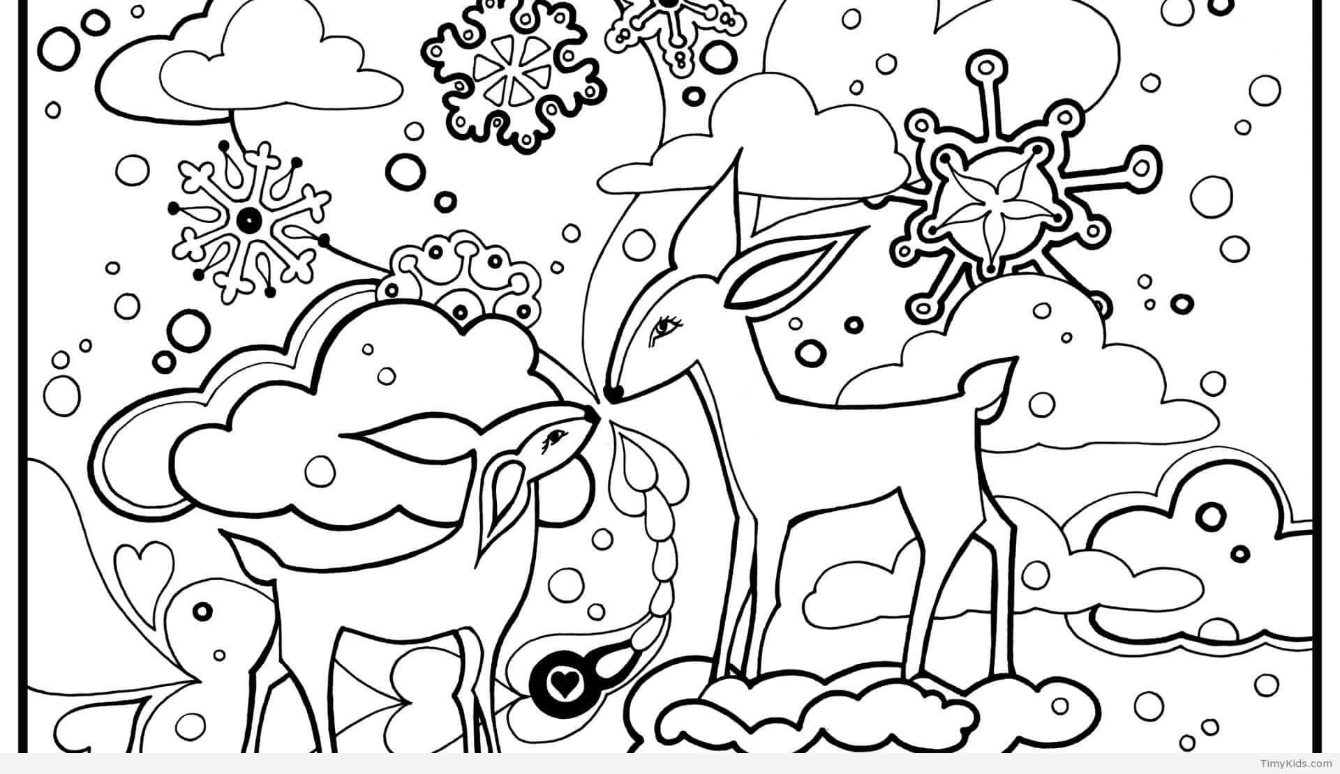 Winter Animal Coloring Pages From The Thousands Of Photos On The Web With Regards To Win Coloring Pages Nature Animal Coloring Pages Christmas Coloring Pages