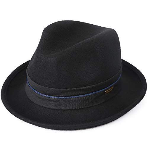 0a3a98f9408 Shop Sedancasesa Mens Felt Fedora Hat Unisex Classic Manhattan Indiana  Jones Hats. Explore our Men
