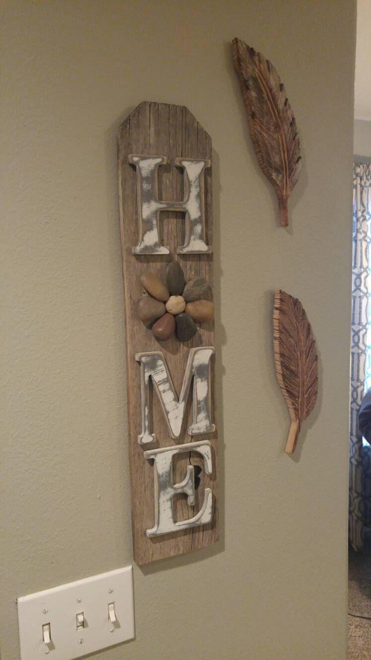 Reclaimed Wood Sign Home With A