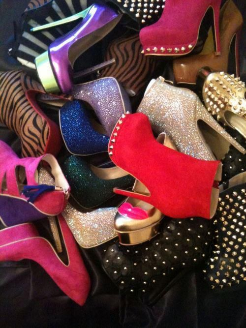 I want all these shoes! haha