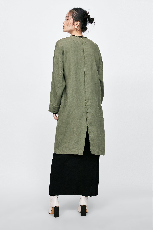 9801b7b04 CHAQUETA OVERSIZE LINO   ss19   Linen jackets, Jackets y Fashion