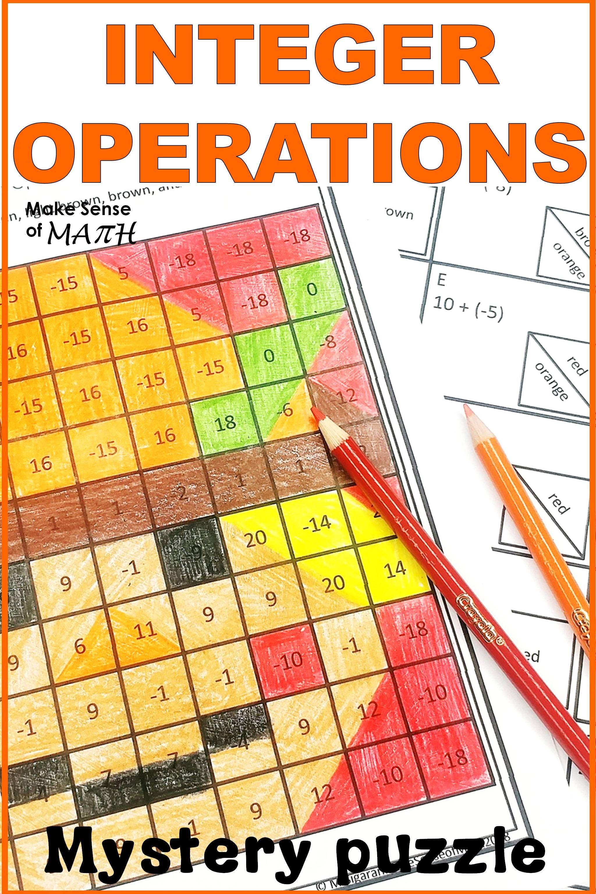 Integer Operations Activity