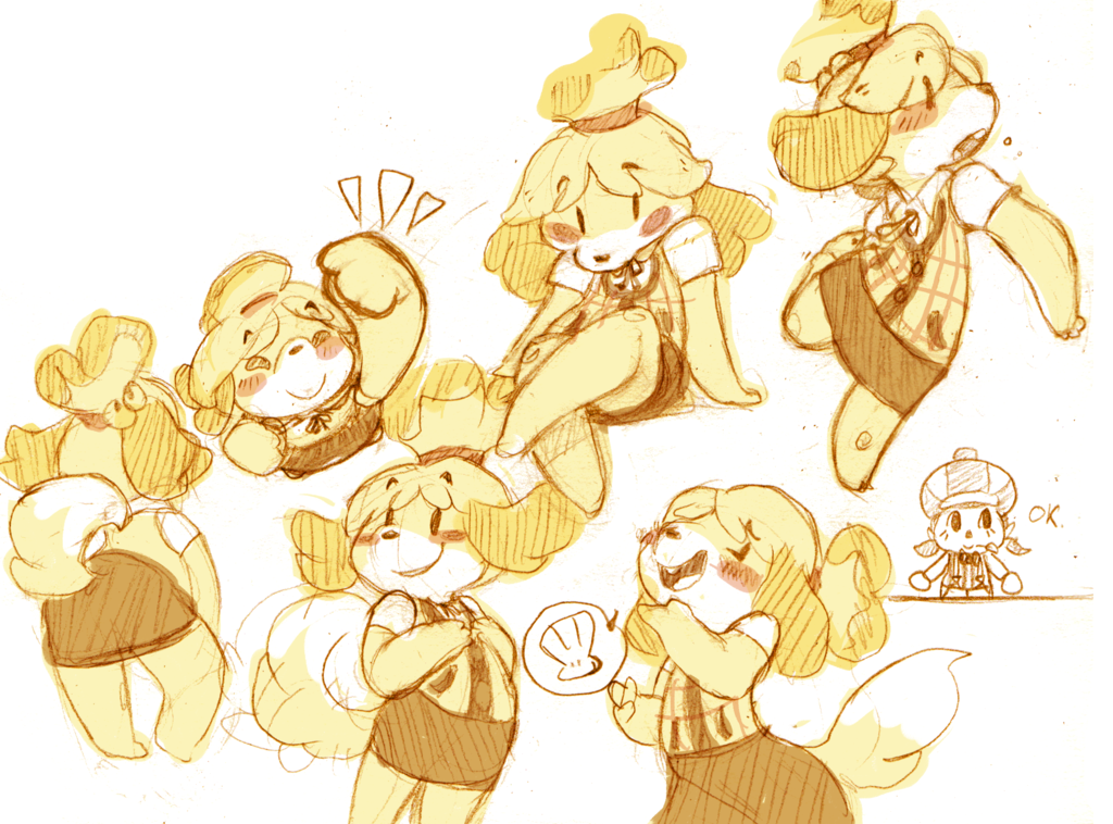 animal crossing characters drawing cute