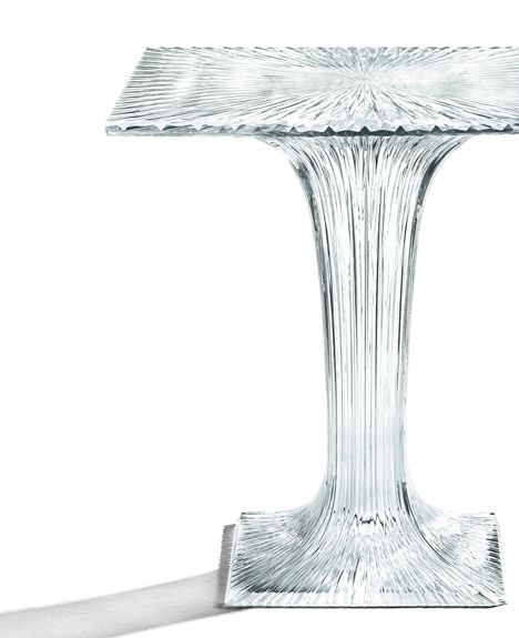 Table by Tokujin Yoshioka for Kartell sparkles like crystal glass