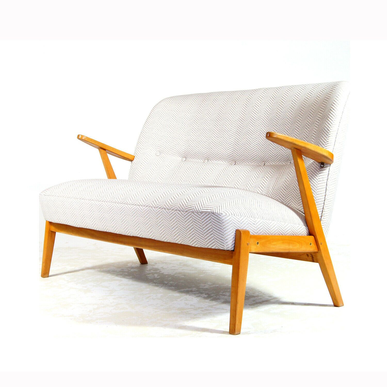 Retro Vintage Danish Design Love 2 Seat Seater Sofa 50s 60s Mid Century Oak Teak Danish Design Inexpensive Furniture Retro Furniture