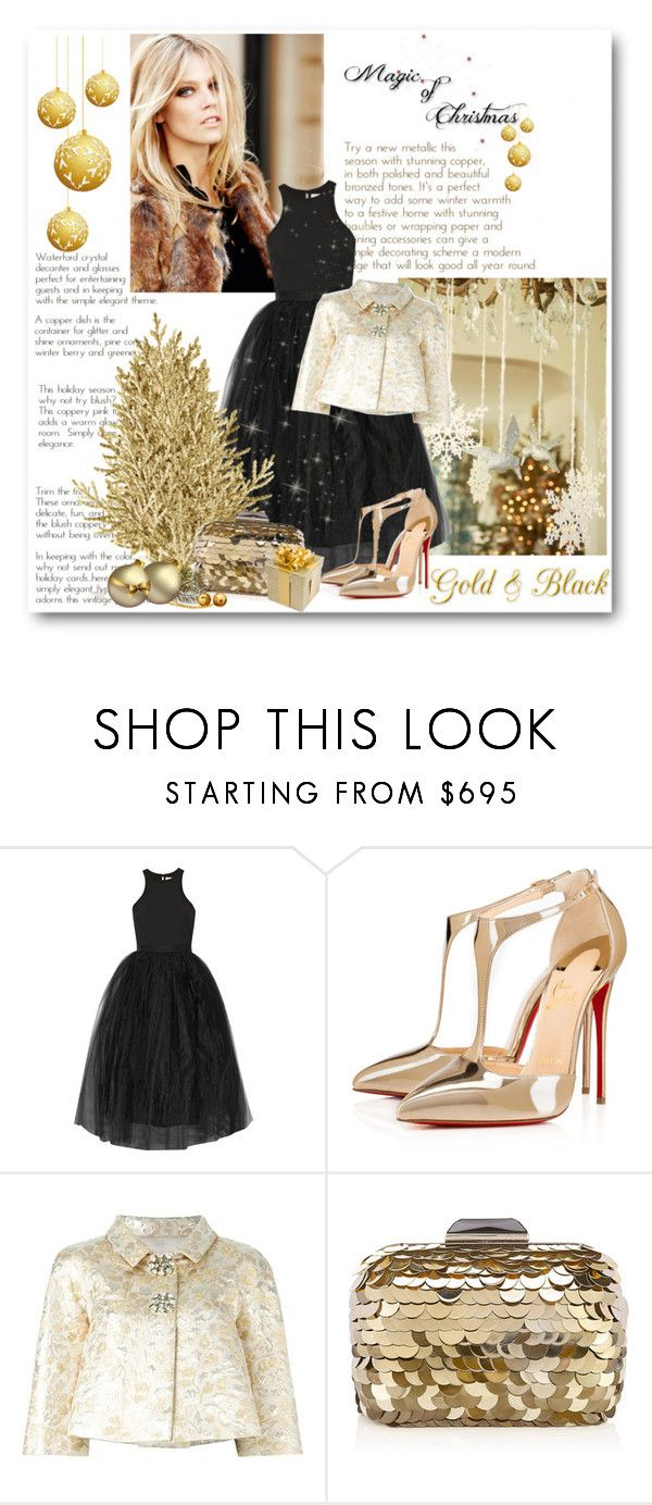 """Magic of Christmas"" by bliznec ❤ liked on Polyvore featuring Elizabeth and James, Christian Louboutin, Dolce&Gabbana and Jimmy Choo"