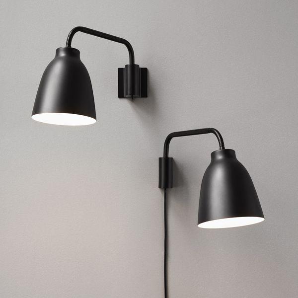 Lightyears Caravaggio Wall Lamp Matt Black Wall Lamps