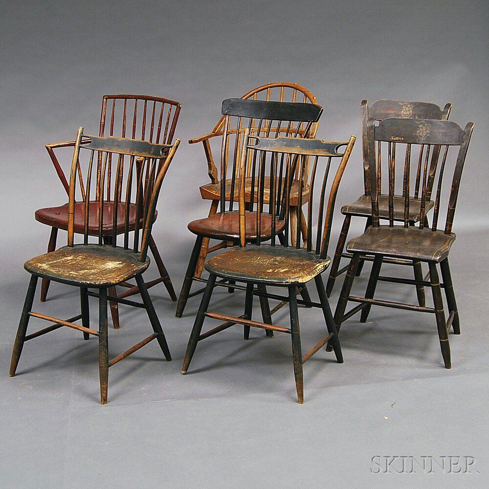 seven windsor chairs sale number 2765m lot number 721 skinner auctioneers