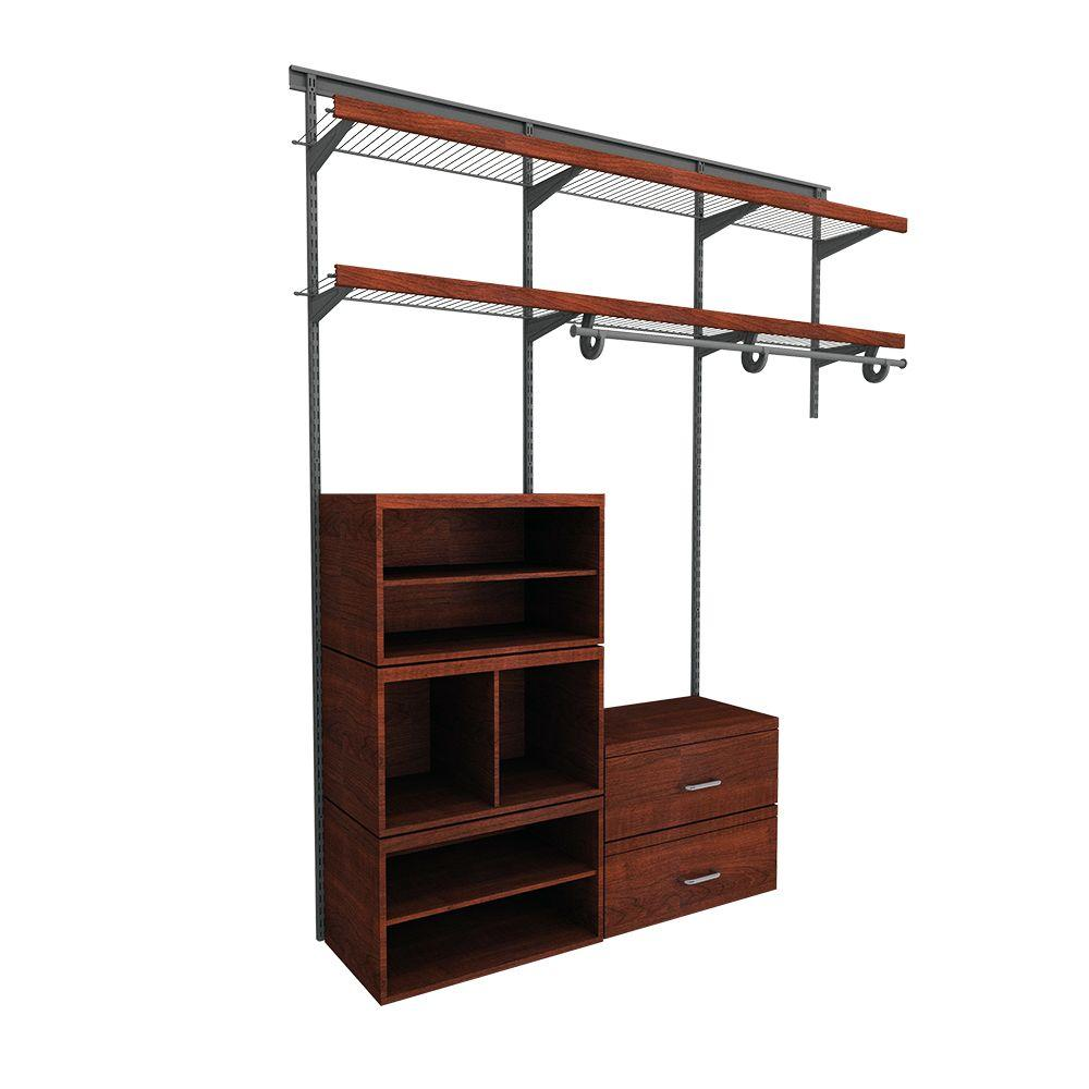 Closetmaid Shelftrack 5 Ft To 8 Ft 12 In D X 96 In W X 78 In H Nickel Steel Closet System Organizer Kit 32875 En 2020 Offset