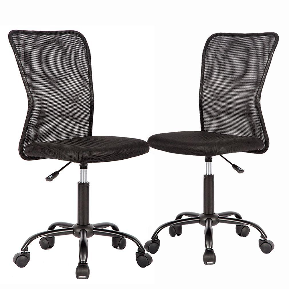 Set Of 2 Mesh Office Chair Computer Mid Back Task Swivel Seat Ergonomic Chair In 2020 Ergonomic Chair Mesh Office Chair Office Chair