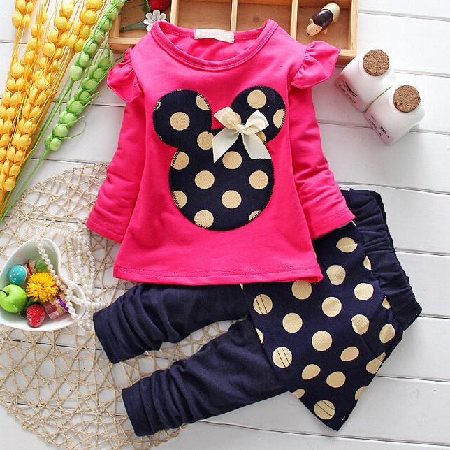 74ea47f96 Girls Polka Dot Two Pieces Outfits