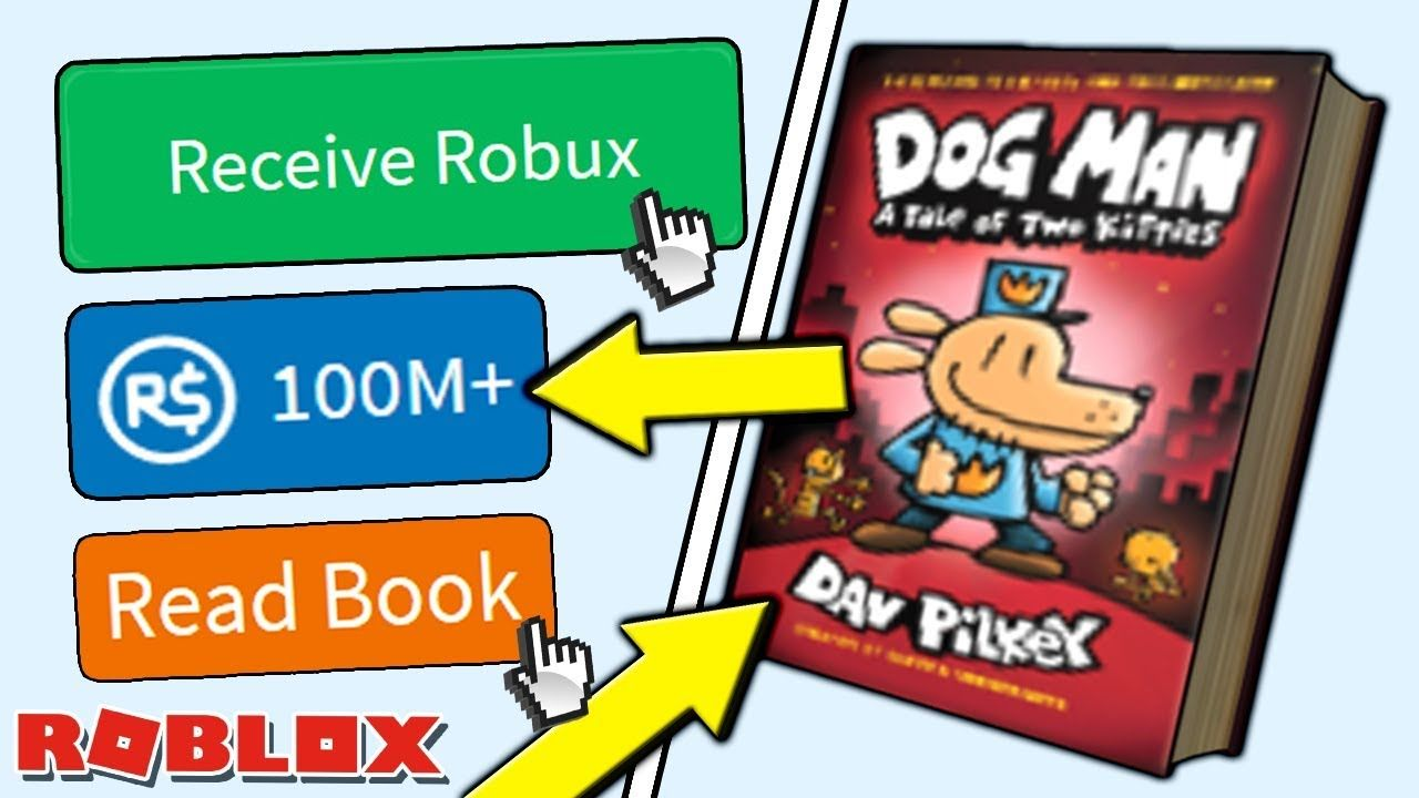 New Item Dog Book 3 Gives Everyone 100m Free Robux On Roblox Get