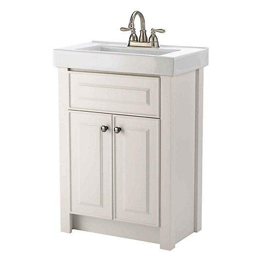 Magick woods keystone inch  door freestanding vanity in white with ceramic also rh pinterest