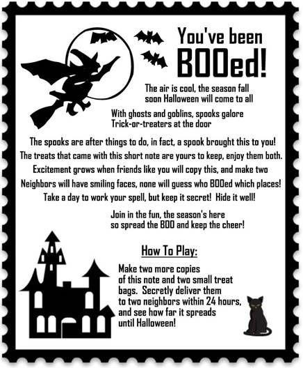 Getting Booed Party Ideas Halloween Boo Halloween