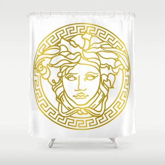 Versace Shower Curtain By Goldflakes Society6 Badkamer