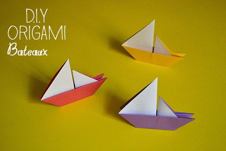 diy origami bateau origami origami origami sailboat. Black Bedroom Furniture Sets. Home Design Ideas