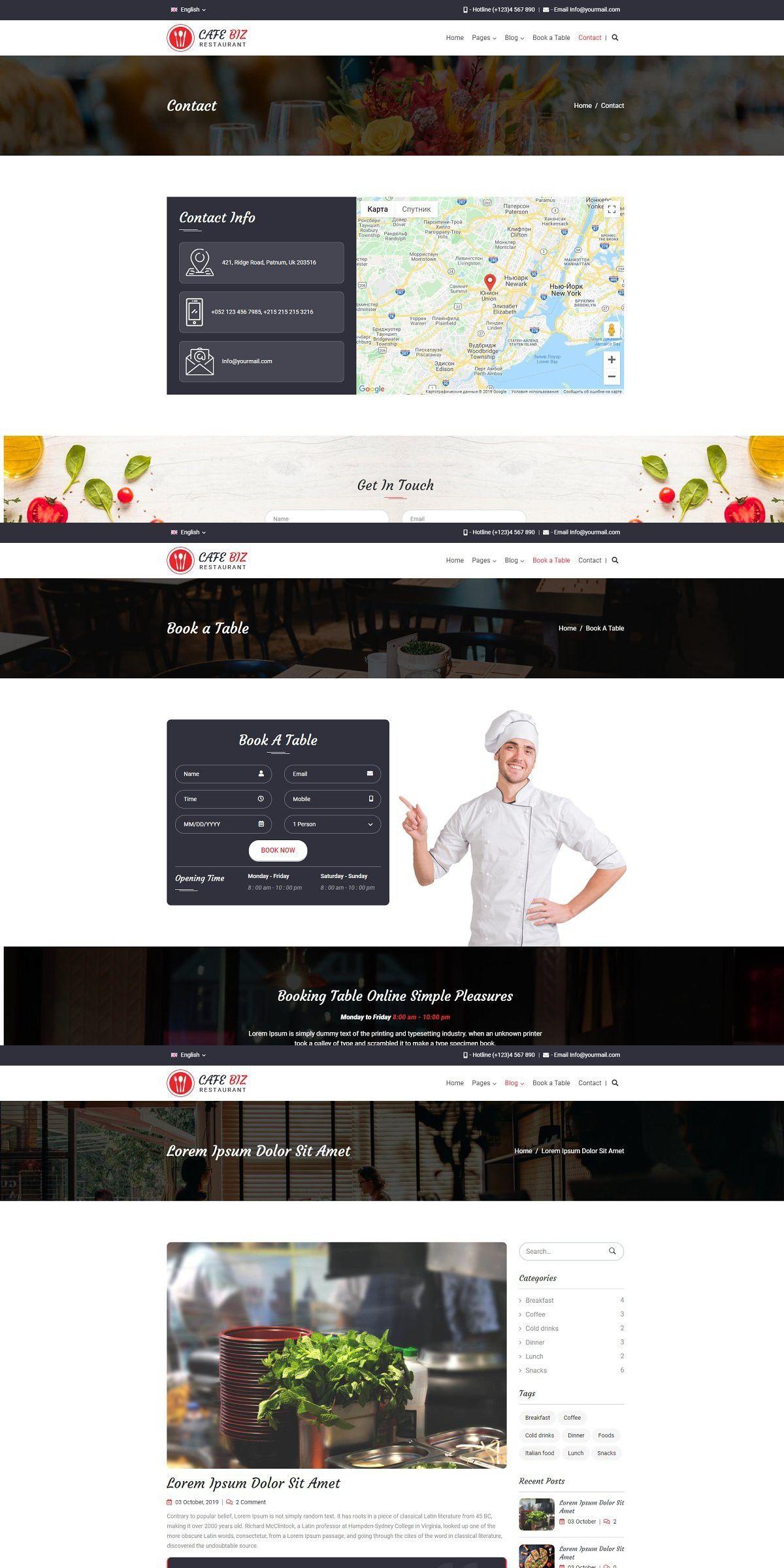 WordPress Theme in 2020 Restaurant