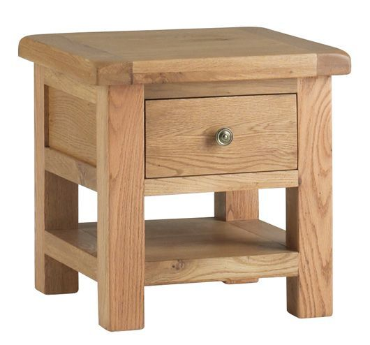 Corndell Lovell Lamp Table With Drawer L527 £179.55