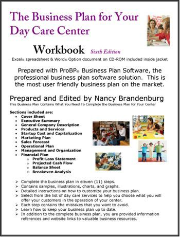 Day Care Center Business Plan Daycare matters Pinterest - breakeven template