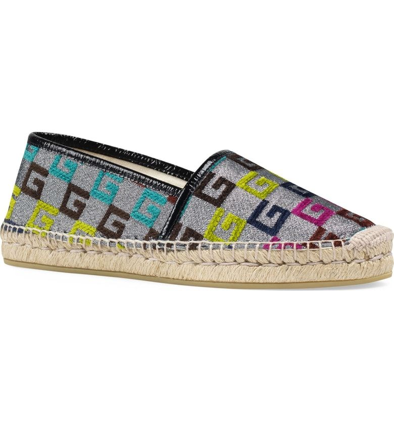83b887e54a4 Free shipping and returns on Gucci Pilar G Logo Espadrille (Women) at  Nordstrom.com. Flocked