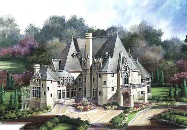 Chateau Novella House Plan 2 Story 7394 Square Foot 6 Bedroom