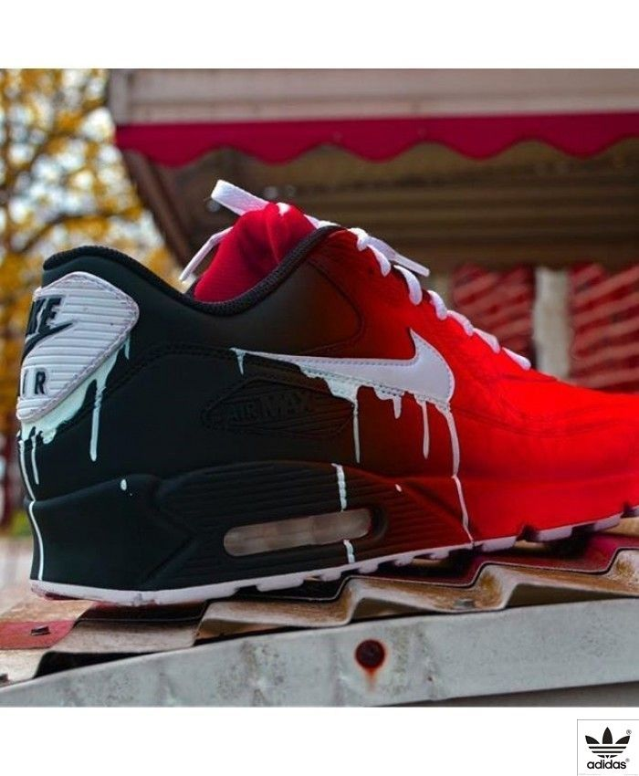pretty nice 960e6 834fa Amazing Nike Air Max 90 Candy Drip Gradient Black Red Trainer,Good For  Exercise!