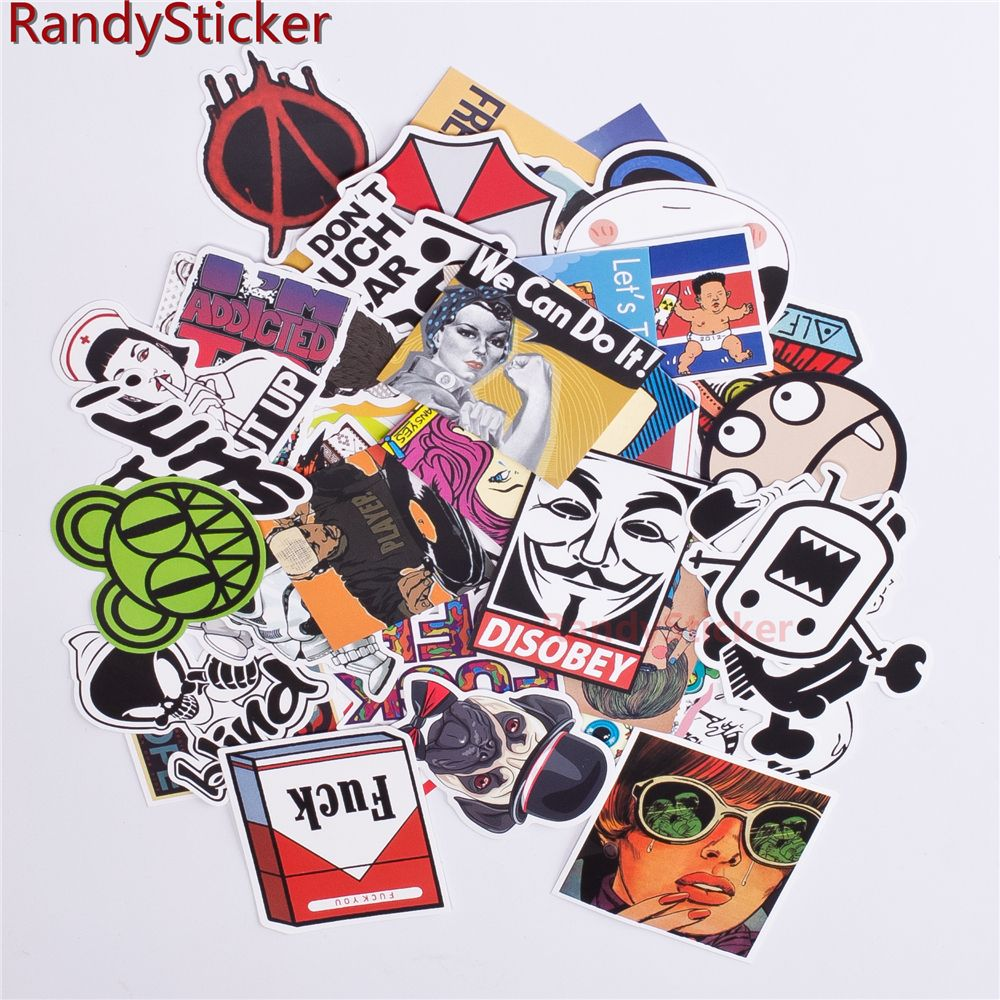 50 Pcs Mixed Stickers Car Styling Funny Car Sticker Doodle Motorcycle Bike Travel Doodle Accessory Car Covers De Car Stickers Funny Car Stickers Travel Doodles [ 1000 x 1000 Pixel ]