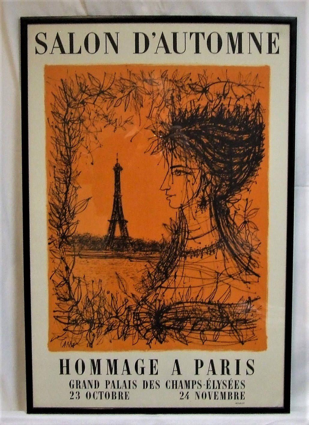 Vintage Poster Salon D Automne 1968 Jean Carzon Mourlot