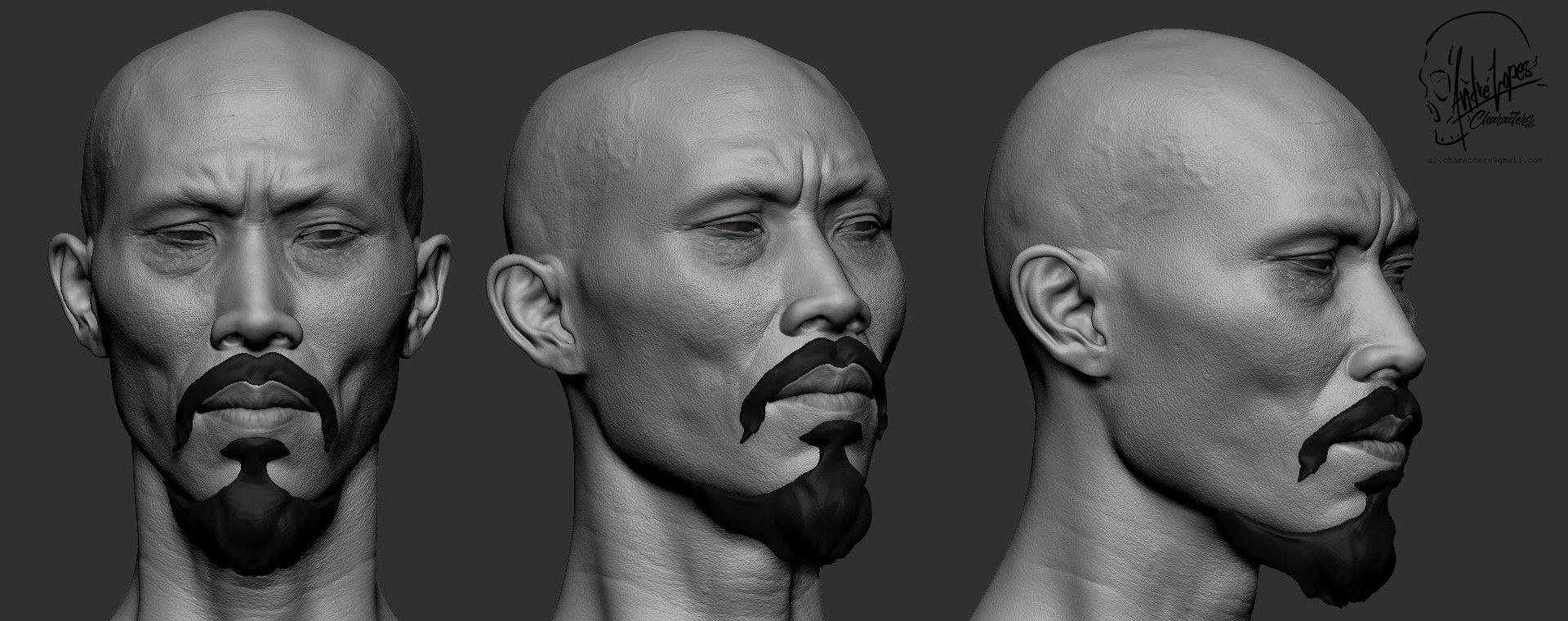ArtStation - WIP - One Hundred Eyes Likeness - Tom Wu - Marco Polo ...
