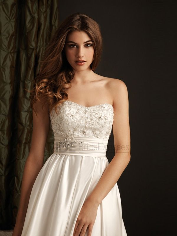 Embroidery And Swarovski Crystals Sweetheart Neckline Backless Stain Wedding Dress WD1684