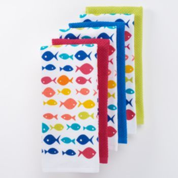 The Big One Multi Fish Kitchen Towels 6 Pk Kitchen Towels
