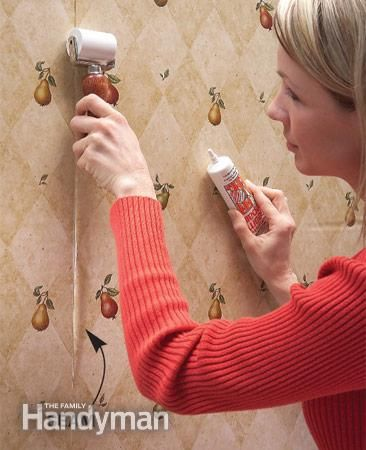 Pro Paint And Wallpapering Tips Wallpapering Tips Wallpaper Repair Painting Over Wallpaper