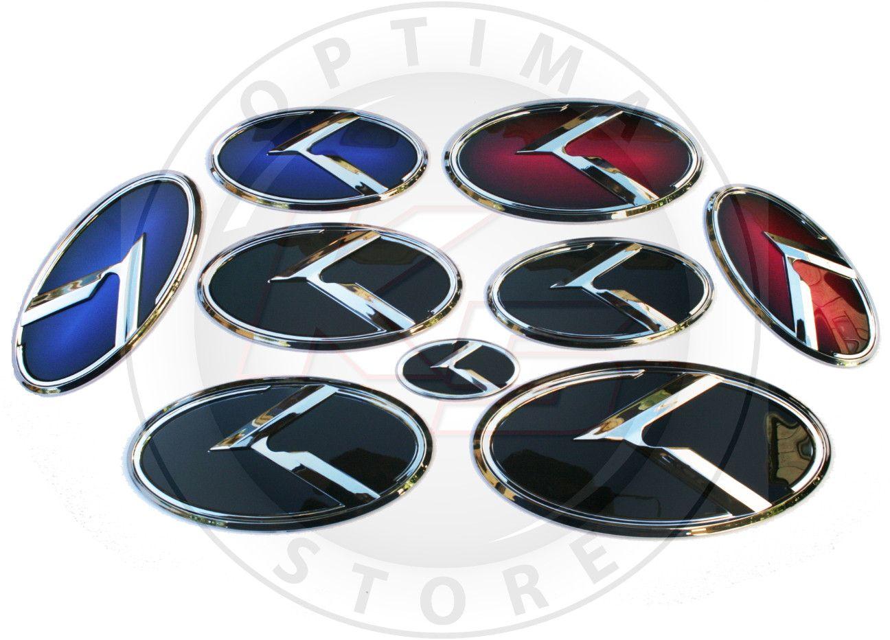 """Kia 3.0 K Logo Emblem Sets """"Chrome Edition"""" Honda"""
