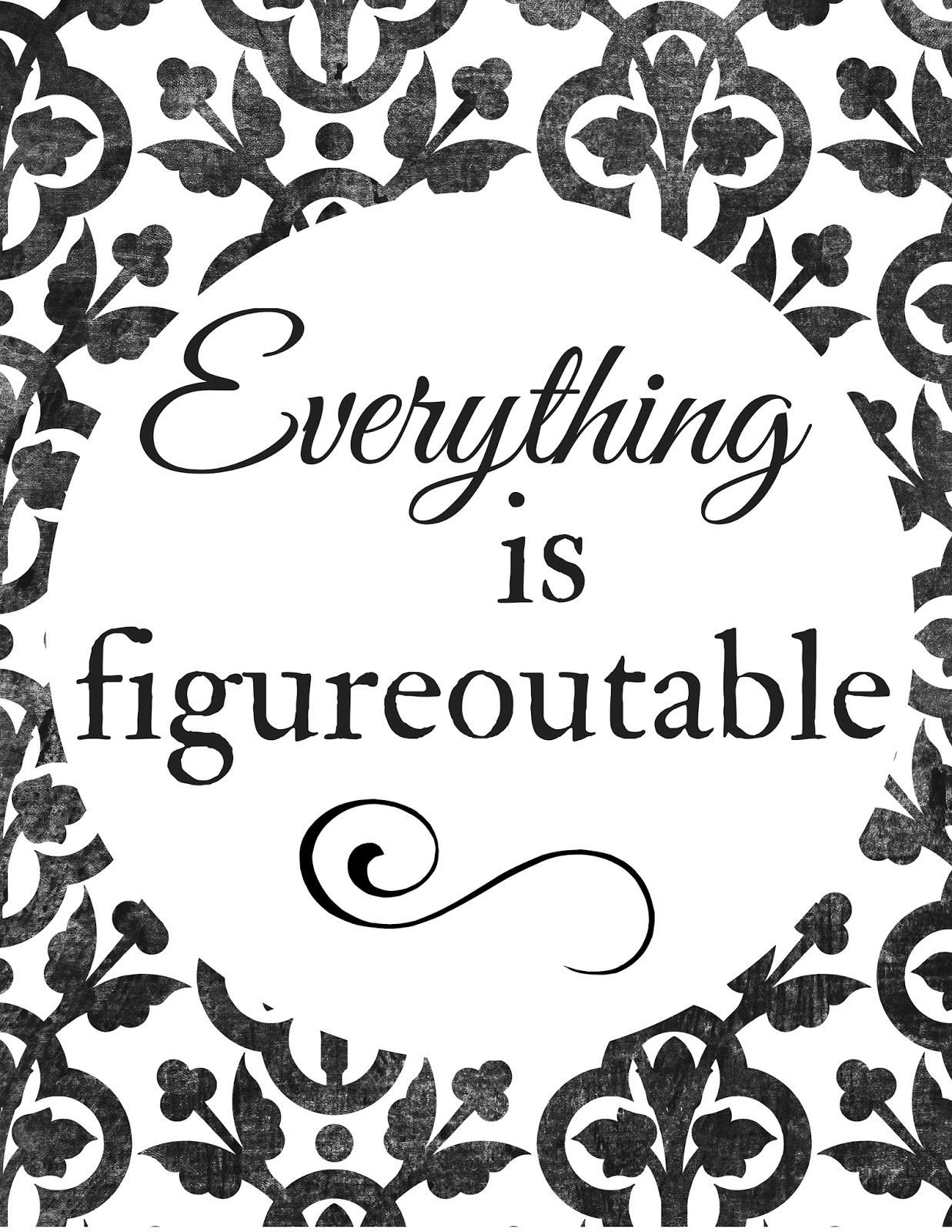 Colorful Quotes: Everything is figureoutable (printable ...