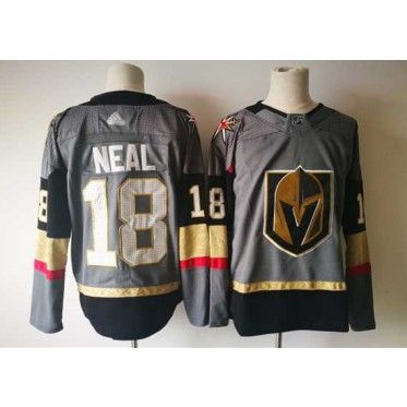 quality design 53f73 bf424 Ice Hockey Gray Men James Neal #18 Hockey Jersey Vegas ...