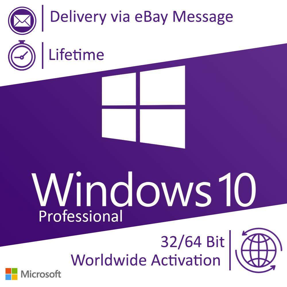 eBay #Sponsored Microsoft Windows 10 Professional Pro license
