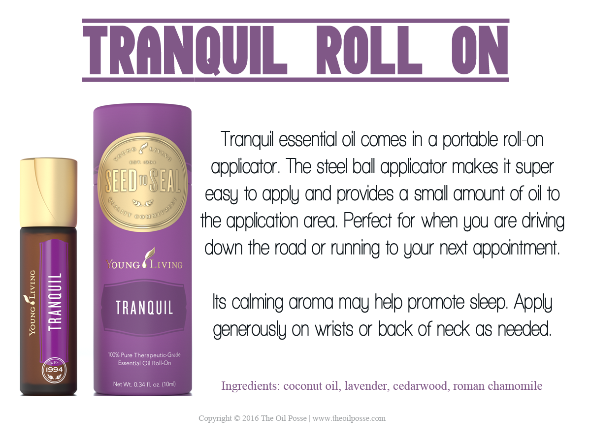 Tranquil Essential Oil Has A Calming Aroma And May Help