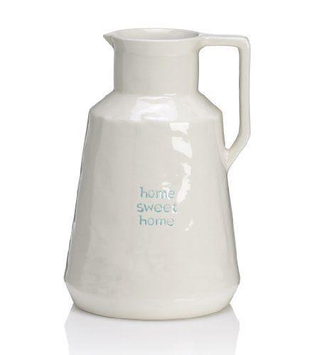 Home Sweet Home Ceramic Jug-Marks & Spencer