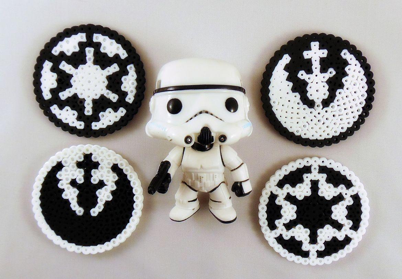 How To Make Star Wars Perler Bead Coasters | Pinterest | Punto de ...