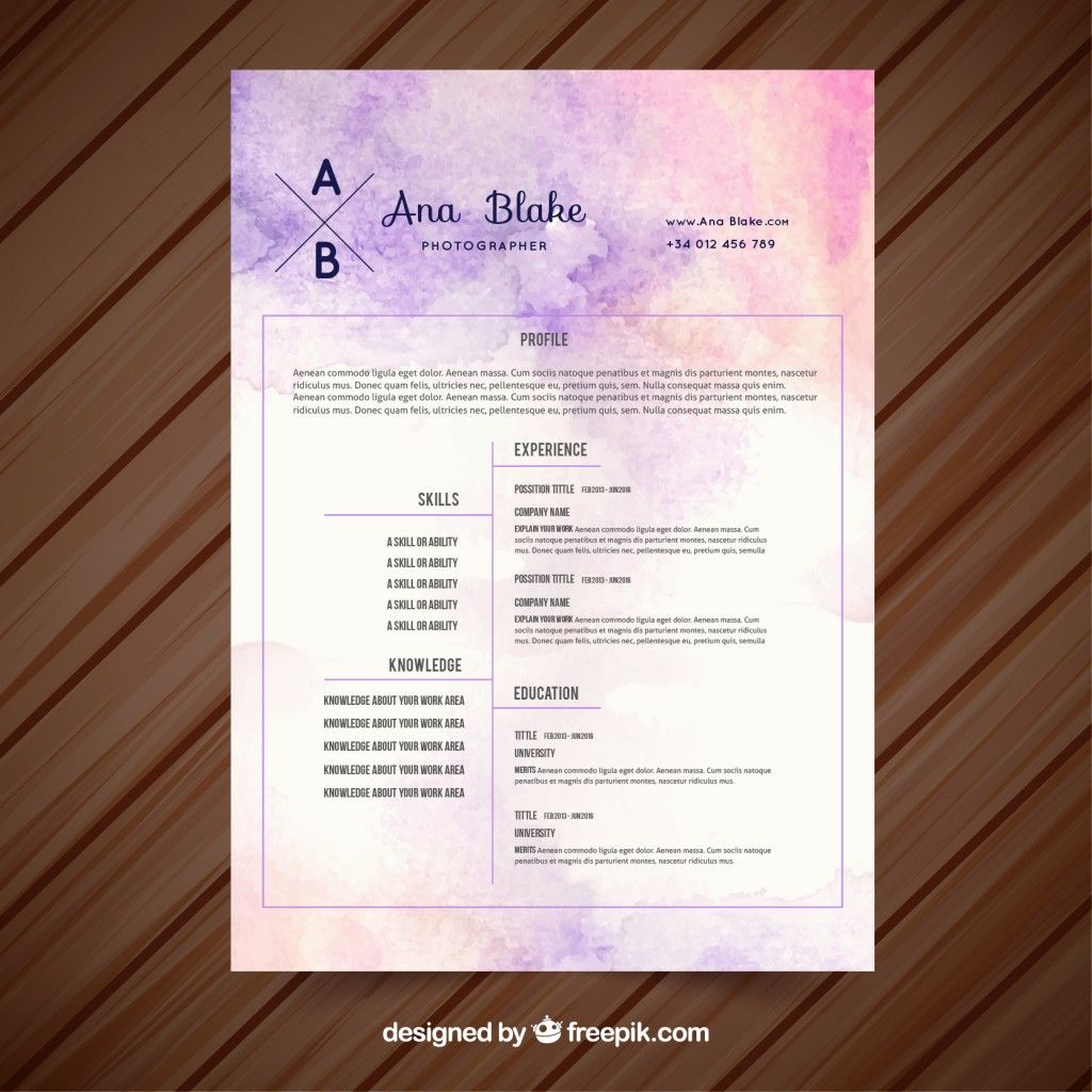 Cv Template Vectors, Photos and PSD files Free Download