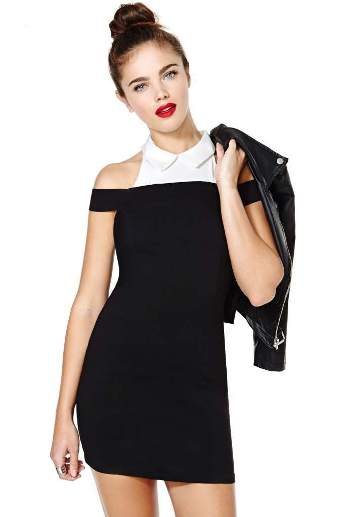 37e98f78b5b7c Nasty Gal Look Sharp Dress    Great to wear under a black tutu skirt ...
